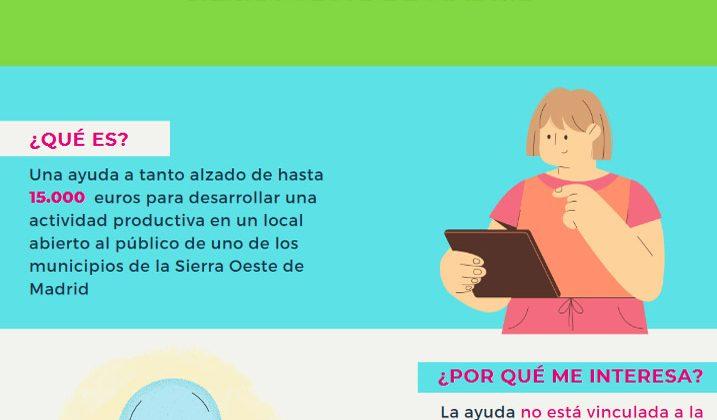 Ayudas de apoyo para el autoempleo de parados/as (Sierra Oeste de Madrid)